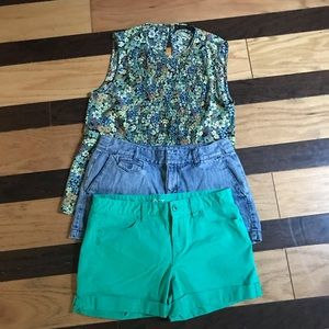 3 pcs women shorts and blouse